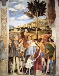 465px-Andrea_Mantegna_-_The_Meeting_-_WGA14010