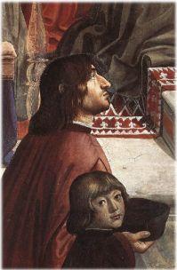 440px-Cappella_Sassetti,_Domenico_Ghirlandaio_-_Angelo_Poliziano_e_Giuliano_de'_Medici